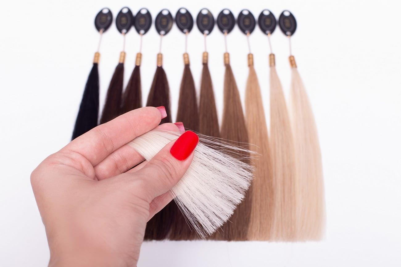 paleta kolorów blond
